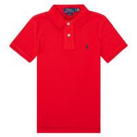 vaatteet Pojat Lyhythihainen poolopaita Polo Ralph Lauren FRANCHI Punainen