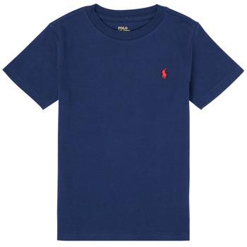 vaatteet Pojat Lyhythihainen t-paita Polo Ralph Lauren TINNA Laivastonsininen