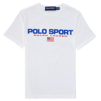 vaatteet Pojat Lyhythihainen t-paita Polo Ralph Lauren DRONI Valkoinen