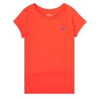 vaatteet Tytöt Lyhythihainen t-paita Polo Ralph Lauren SIDONIE Punainen