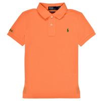 vaatteet Pojat Lyhythihainen poolopaita Polo Ralph Lauren POLLIE Oranssi