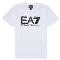 vaatteet Pojat Lyhythihainen t-paita Emporio Armani EA7 3KBT53-BJ02Z-1100 Valkoinen