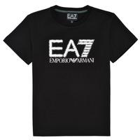 vaatteet Pojat Lyhythihainen t-paita Emporio Armani EA7 3KBT53-BJ02Z-1200 Musta