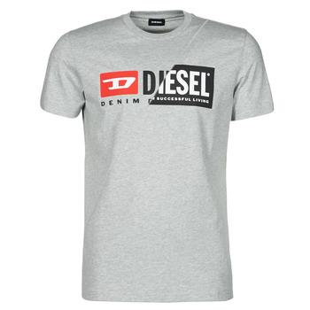 vaatteet Miehet Lyhythihainen t-paita Diesel 00SDP1-0091A-912 Harmaa