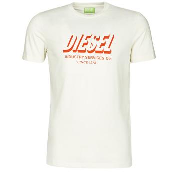 vaatteet Miehet Lyhythihainen t-paita Diesel A01849-0GRAM-129 Valkoinen