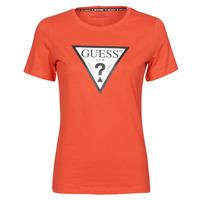 vaatteet Naiset Lyhythihainen t-paita Guess SS CN ORIGINAL TEE Punainen