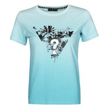 vaatteet Naiset Lyhythihainen t-paita Guess SS CN PALMS TEE Sininen