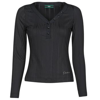 vaatteet Naiset T-paidat pitkillä hihoilla Guess LS URSULA TOP Musta