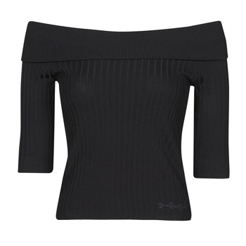 vaatteet Naiset T-paidat pitkillä hihoilla Guess DAYNA OFF SHOULDER SWTR Musta