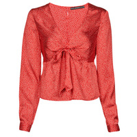 vaatteet Naiset Topit / Puserot Guess NEW LS GWEN TOP Punainen / Valkoinen