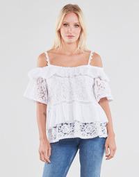 vaatteet Naiset Topit / Puserot Guess SS NEW OLIMPIA TOP Valkoinen