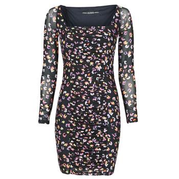 vaatteet Naiset Lyhyt mekko Guess GAYLE DRESS Musta / Beige / marine