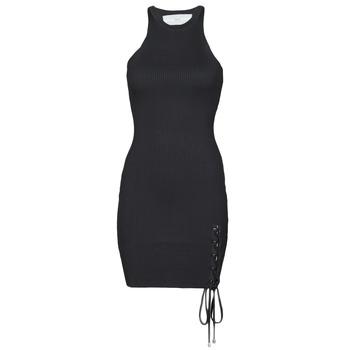 vaatteet Naiset Lyhyt mekko Guess ALEXA TIE DRESS Musta