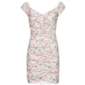vaatteet Naiset Lyhyt mekko Guess INGRID DRESS Vaaleanpunainen / Clear