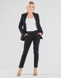 vaatteet Naiset 5-taskuiset housut Guess ZOE PANTS Musta