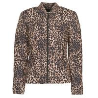 vaatteet Naiset Toppatakki Guess VERA JACKET Leopardi
