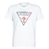 vaatteet Miehet Lyhythihainen t-paita Guess TRIESLEY CN SS TEE Valkoinen