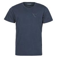 vaatteet Miehet Lyhythihainen t-paita Guess LOGO ORGANIC BASIC CN SS TEE Laivastonsininen