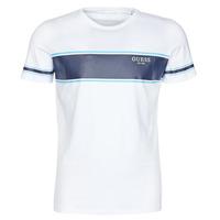 vaatteet Miehet Lyhythihainen t-paita Guess CN SS TEE Valkoinen / Laivastonsininen
