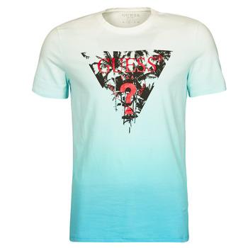 vaatteet Miehet Lyhythihainen t-paita Guess PALM BEACH CN SS TEE Sininen