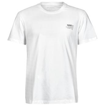 vaatteet Miehet Lyhythihainen t-paita Guess ORGANIC BASIC CN SS TEE Valkoinen