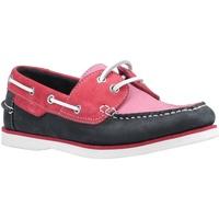 kengät Naiset Purjehduskengät Hush puppies  Pink/Navy