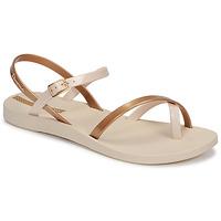 kengät Naiset Sandaalit ja avokkaat Ipanema Ipanema Fashion Sandal VIII Fem Beige / Kulta