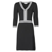 vaatteet Naiset Lyhyt mekko Morgan RMFATA Musta / Valkoinen