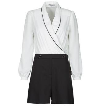 vaatteet Naiset Jumpsuits / Haalarit Morgan SHAMIE Musta / Valkoinen