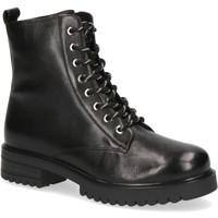 kengät Naiset Nilkkurit Caprice Booties Low Heels Black Musta