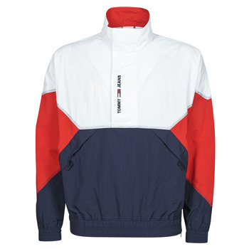 vaatteet Miehet Pusakka Tommy Jeans TJM LIGHTWEIGHT POPOVER JACKET Valkoinen / Punainen / Laivastonsininen