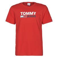 vaatteet Miehet Lyhythihainen t-paita Tommy Jeans TJM CORP LOGO TEE Punainen