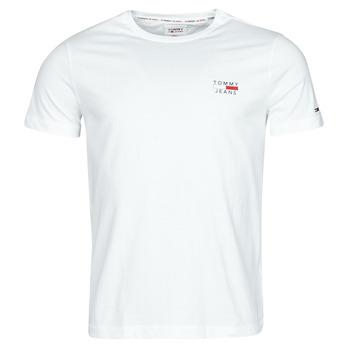 vaatteet Miehet Lyhythihainen t-paita Tommy Jeans TJM CHEST LOGO TEE Valkoinen