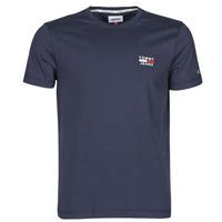 vaatteet Miehet Lyhythihainen t-paita Tommy Jeans TJM CHEST LOGO TEE Laivastonsininen