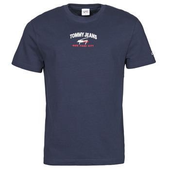vaatteet Miehet Lyhythihainen t-paita Tommy Jeans TJM TIMELESS TOMMY SCRIPT TEE Laivastonsininen