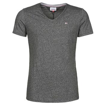 vaatteet Miehet Lyhythihainen t-paita Tommy Jeans TJM SLIM JASPE V NECK Musta