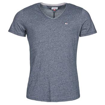 vaatteet Miehet Lyhythihainen t-paita Tommy Jeans TJM SLIM JASPE V NECK Laivastonsininen