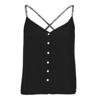 vaatteet Naiset Topit / Puserot Tommy Jeans TJW CAMI TOP BUTTON THRU Musta