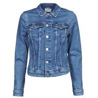 vaatteet Naiset Farkkutakki Tommy Jeans VIVIANNE SLIM DENIM TRUCKER NMBS Sininen