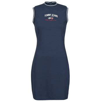vaatteet Naiset Lyhyt mekko Tommy Jeans TJW TIMELESS SCRIPT DRESS Laivastonsininen