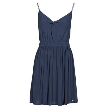 vaatteet Naiset Lyhyt mekko Tommy Jeans TJW ESSENTIAL STRAP DRESS Laivastonsininen