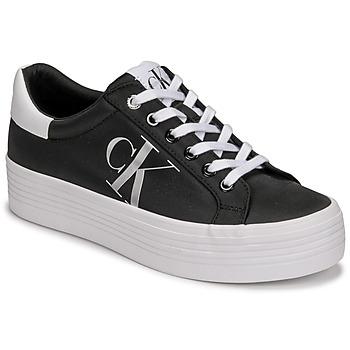 kengät Naiset Matalavartiset tennarit Calvin Klein Jeans VULCANIZED FLATFORM LACEUP NY Musta