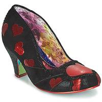 kengät Naiset Korkokengät Irregular Choice HEART ON YOUR SLEEVE Musta