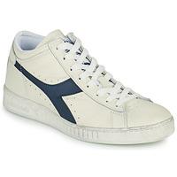 kengät Korkeavartiset tennarit Diadora GAME L WAXED ROW CUT Valkoinen / Sininen