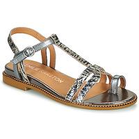 kengät Naiset Sandaalit ja avokkaat Karston SOREN Hopea