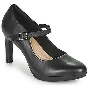 kengät Naiset Korkokengät Clarks AMBYR SHINE Musta