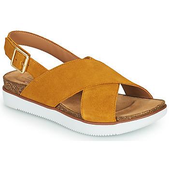 kengät Naiset Sandaalit ja avokkaat Clarks ELAYNE CROSS Sinappi