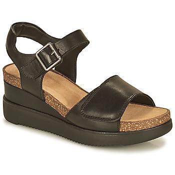 kengät Naiset Sandaalit ja avokkaat Clarks LIZBY STRAP Musta