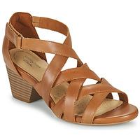 kengät Naiset Sandaalit ja avokkaat Clarks LORENE POP Kamelinruskea