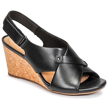 kengät Naiset Sandaalit ja avokkaat Clarks MARGEE EVE Musta